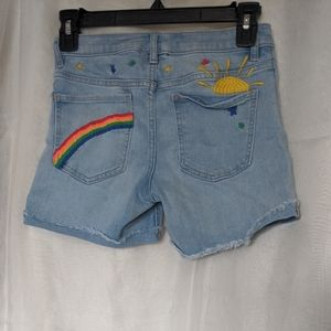 12)Girls Gap For Good Rainbow Shorts